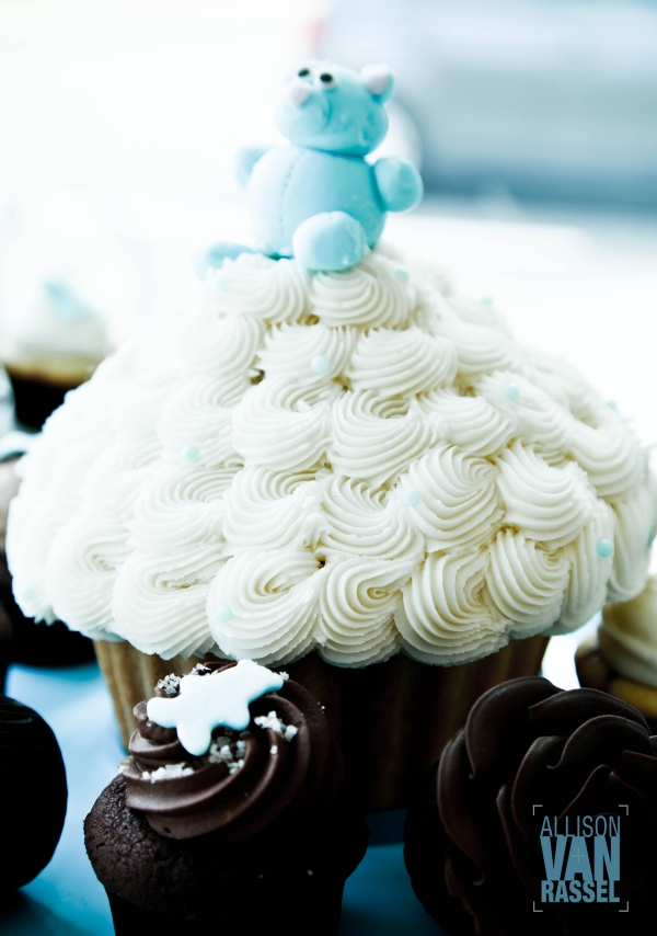 Mlle Cupcake's big cupcake for special occasions.