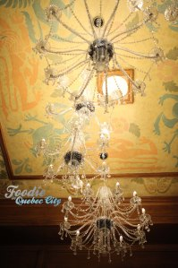 The grand crystal chandelier